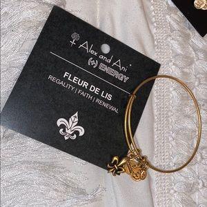 ALEX AND ANI gold Fleur de Lis bracelet